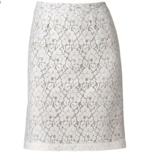 Apt. 9 Lace Pencil Skirt Lined zips in Back